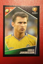 Panini EURO 2004 N. 184 SVERIGE JAKOBSSON  NEW With BLACK BACK TOPMINT!!