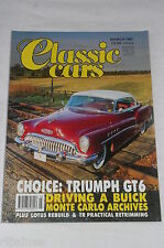 Classic Cars March 1991: Triumph GT6/53 Buick Roadmaster/Cord 812/ Mercedes 540K