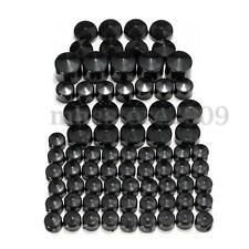 76Pcs ABS Screw Bolt Topper Cap Cover Black For 91-13 Harley Davidson Twin Dyna