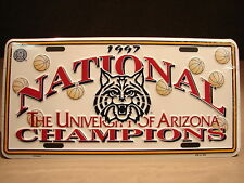 TWO U of A Wildcats Arizona Basketball NCAA National Championship License Plates