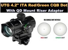 UTG Red/Green Dot Scope High and Low QD Mounts and Flip-open Lens Caps - Leapers