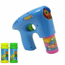 BLUE Bubble Machine gun sparatutto BOLLE Kids Party giocattolo con una soluzione libera