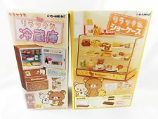 Re-MeNT Sanrio Rilakkuma Relax Bear Display Cabinet Fridge Showcase Set JAPAN
