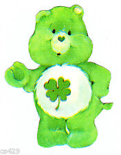 """4.5"""" CARE BEARS GOOD LUCK BEAR RARE CHARACTER PREPASTED WALL BORDER CUT OUT"""