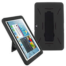 Heavy Duty Hybrid Protection Black Case Cover For Samsung Galaxy Tab 2 10.1