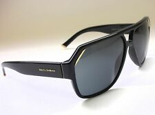 Authentic DOLCE & GABBANA DG4138 501/87 Black/Grey Lens 62mm Men's Sunglasses