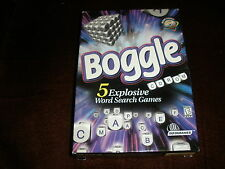 BOGGLE 5 Explosive Word Search Games HASBRO PC Game CD-ROM NEW