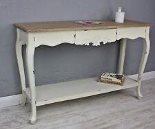 Konsole Sekretär weiß braun antik Landhaus Holz Tisch Anrichte Flur shabby chic