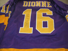 Los Angeles Kings Marcel Dionne signed Jersey Purple W/COA