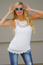 Womens Summer Loose Casual Chiffon Sleeveless Vest Shirt Tops Blouse Ladies Tops