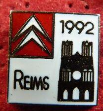 RARE PIN'S CITROEN GARAGE VILLE REIMS 1992 EGF