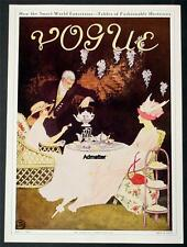 VOGUE MAGAZINE COVER POSTER 1911 TABLES OF FASHIONABLE HOSTESSES RESTAURANT ART!