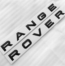 NEW RANGE ROVER GLOSS BLACK BOOT / BONNET LETTERING BADGE SPORT VOGUE EVOQUE