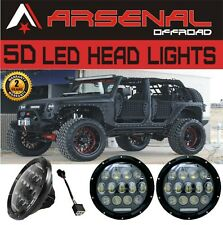 #1 2X 7Inch 75W LED Headlight H4 H13 DRL HIGH LOW Beam for JEEP JK TJ Wrangler