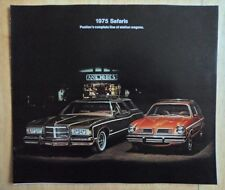 PONTIAC SAFARI orig 1975 USA Mkt Large Format Brochure - Grand Catalina Le Mans