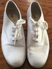 KEDS athletic shoes--Classic Champion---womans' size 11M Leather White