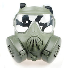 TACTICAL AIRSOFT PAINTBALL FULL FACE SKULL GAS MASK M50 GREEN-34156