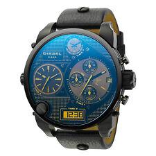 New Diesel Men 56mm Mr Daddy Iridescent Face 4 Time Zone Watch DZ7127 $325