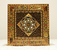 Wooden Mosaik Jewelry Box handmade with mother-of-pearl, Damaskunst K 2-2-45