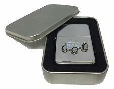 T20 Grey Ferguson Tractor Lighter Enamel Badge NO FUEL INC Smoking Gift Boxed