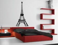 EIFFEL TOWER Paris Vinyl Wall Art Quote Sticky Decals Sticker Home Decor Design