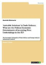 'Amicable Solutions' in Trade Defence. What Are the Political Economic...