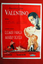 VALENTINO ELEANOR PARKER 1951 ANTHONY DEXTER UNIQUE RARE EXYU MOVIE POSTER