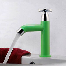 Green Single Hole Cold Faucet Water Tap For Kitchen Sink Basin