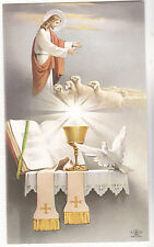"*""Jesus w/*Lambs & *Altar""  *Holy Card/Religious"