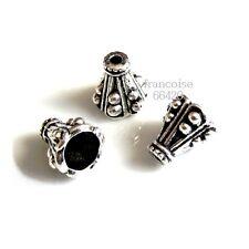 10 Caps calottes coupelles Cône 9.5x9.5mm Perles apprêts création  bijoux _ A261