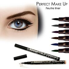 PERFECT MAKE UP FEUTRE EYELINER  SEMI PERMANENT EFFET TATOUAGE BLEU TENUE 24H