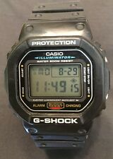 VINTAGE CASIO G SHOCK MEN'S BLACK DIGITAL SPORTS WATCH DW-5600E 200M WR WOW!!!
