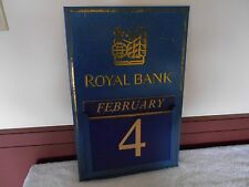 ANTIQUE  VINTAGE METAL ROYAL BANK CALENDAR