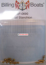 Billing Boats Accessory BF-0690 8mm Handrail Stanchions x 10 Brass New Pack