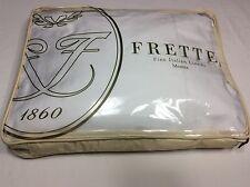 FRETTE Essentials Single Ajour White 4-PC QUEEN SHEET SET. Retail $450 !