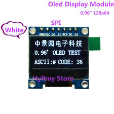 "White 0.96"" SPI Interface 128 64 OLED LCD LCM Display Module for Arduino UNO R3"