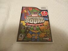 Marvel Super Hero Squad The Infinity Gauntlet Video Game Nintendo Wii New Sealed