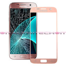 VETRO VETRINO TOUCH SCREEN SAMSUNG GALAXY S7 G930 ROSA ORO PINK GOLD GLASS LENS