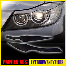 In Stock LA! PAINTED BMW 3-Series E90 4D EYELID HEADLIGHT EYEBROW EYELIDS #475