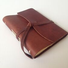New RUSTICO Parley Leather Journals Diary Notebook Christmas GiftsSaddleFlap-tie
