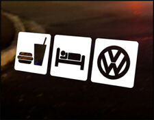 EAT SLEEP VW, Car Decal Vinyl JDM Sticker Golf Dub Euro Polo Camper T4 T5