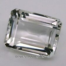 DIAMOND QUARTZ 10x8 MM EMERALD CUT  ALL NATURAL AAA