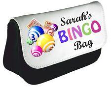 Personalised Bingo Queen Pencil Case Mom Nan Bag Dabber xmas Birthday Gift Des 3