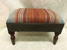 Footstool upholstered in Top quality fabric
