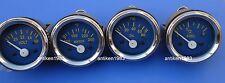 "2"" / 52mm  Electrical Oil Pressure + Temperature + Volt + Fuel Gauge -Blue Face"