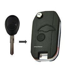 New Uncut Folding Shell Remote Key Case Fob 2 Button for Land Rover Discovery