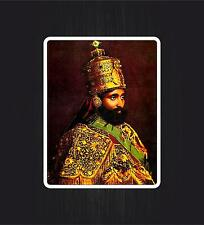 Sticker car rasta reggae JAH lion of judah ethiopia rastafarai haile selassie