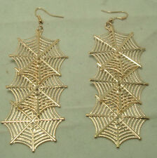 New fashion of dangling golden spider's web earrings E129