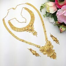 Indian Bridal Costume Jewellery Party Ethnic Wear 22ct Gold Plated Necklace Set