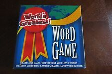 World's Greatest! Word Game AGES 13 UP - 2 OR MORE PLAYERS